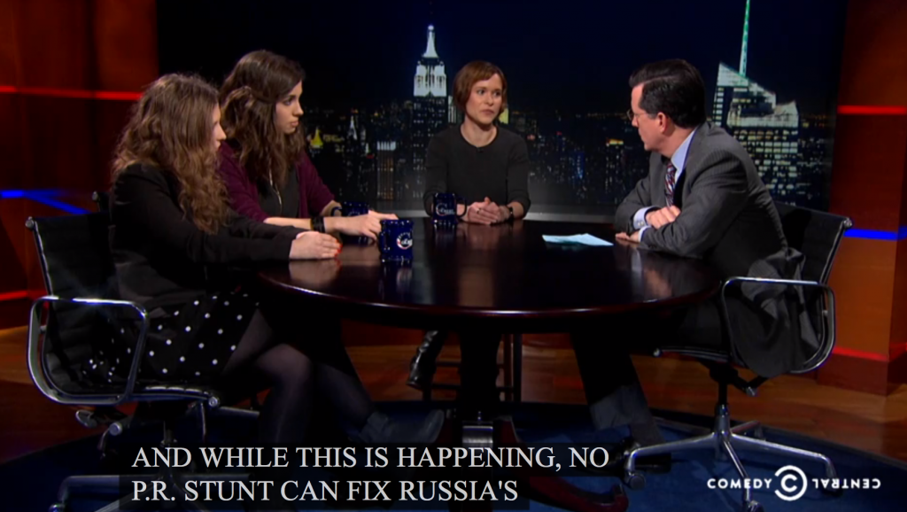 Pussy Riot on The Colbert Report: Part 2