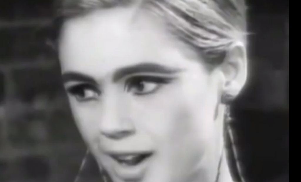 Edie Sedgwick and Andy Warhol on the Evening News