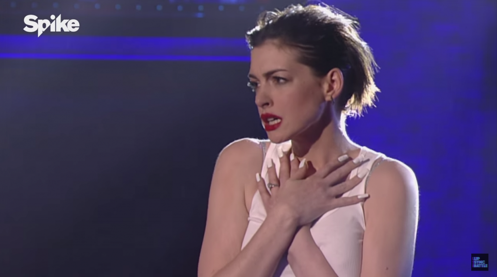 "Anne Hathaway\'s ""Lip Sync Battle"" is Everything"
