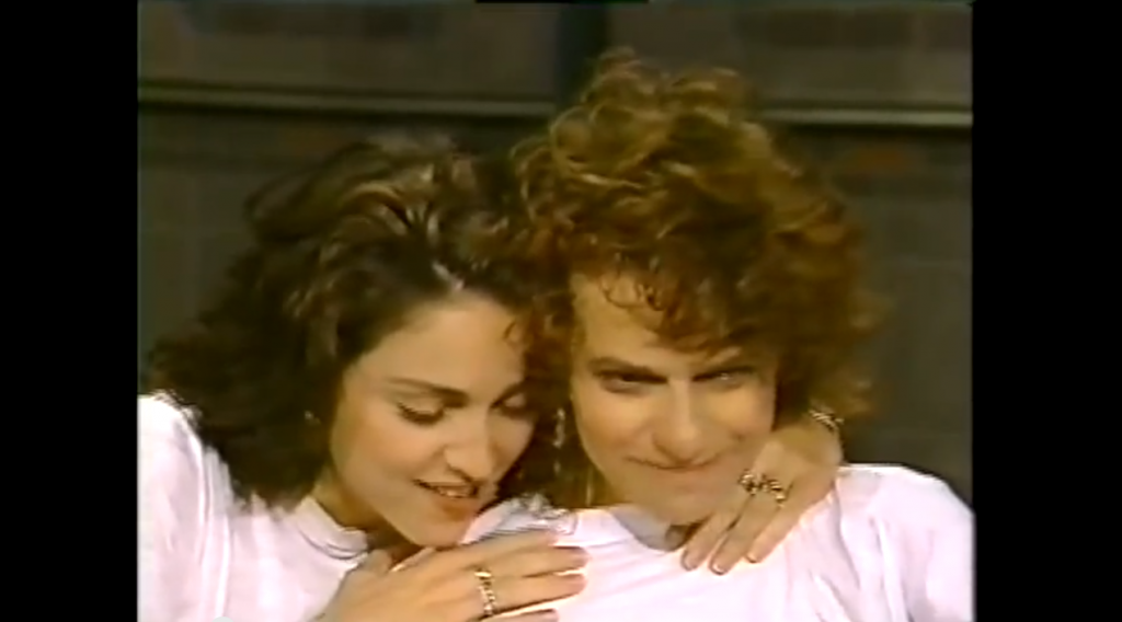 Sandra Bernhard and Madonna on David Letterman in 1988